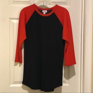 Lularoe randy black and red size small